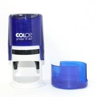 Печать на авт. оснастке Colop R-40 цвет индиго