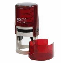 Печать на авт. оснастке Colop R-40 цвета рубин