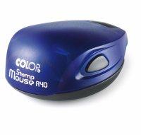 Карманная печать с подушкой d40мм Mouse цвет индиго